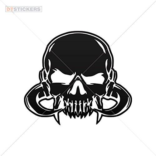 Decal Stickers Skull Skulls Vampire Motorbike Boat (11 X 9,60 In. ) Vinyl color Black