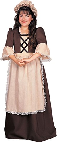 Rubie's Child's Colonial Times Girl Costume, Medium - Colonial Girl Childrens Costumes