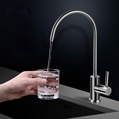 シンプルでスタイリッシュな304ステンレス鋼の飲みタップシングルコールドタイプキッチンシンク純水蛇口浄水器
