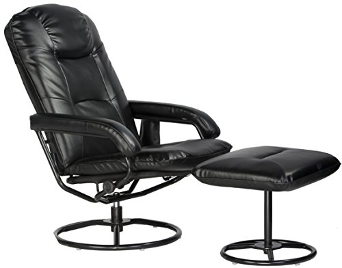 Comfort Products 60-0582 Leisure Recliner Chair with 10-Motor Massage & Heat, Black by Comfort Products