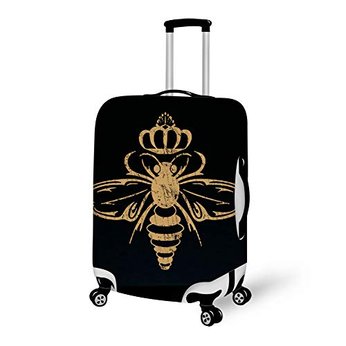 (Queen Bee Travel Luggage Cover Baggage Case with Zipper, Waterproof Dustproof Anti-Scratch High Elasticity Luggage Suitcase Cover Baggage & Luggage)