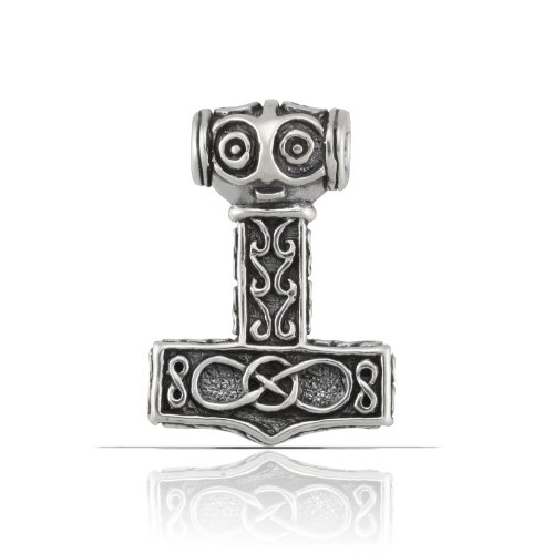 Solid Sterling Silver Hammer of Thor Pendant