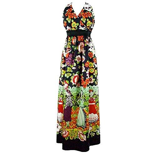 Hemet Women's Frida and Catrinas Maxi Dress M ()