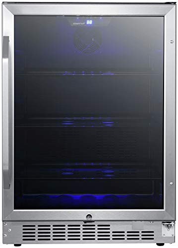 EdgeStar CBR1502SG 24 Inch Wide 142 Can Built-in Beverage Cooler with Tinted Door by EdgeStar (Image #5)