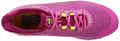 Puma Faas 6 F4, Women's Running Shoes Cerise/Fuchsia Purple/Fluorescent Yellow