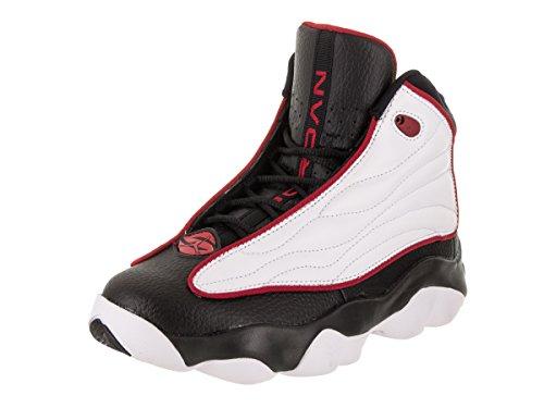 Price comparison product image Jordan 407484-005: Pro Strong Big Kid White/Black/Red Basketball Sneakers (5 M US Big Kid)