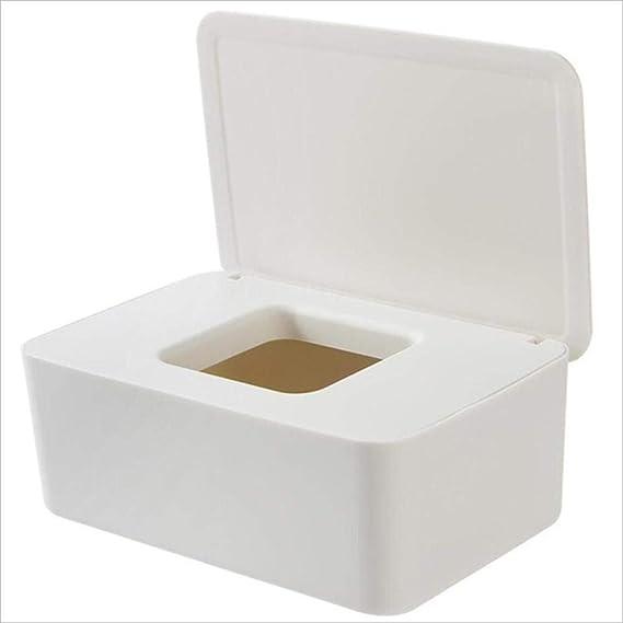 meimenghuachengxinxingjiancaijkwx 80 Hojas Caja de pañuelos húmedos Toallitas húmedas de plástico Caja de Almacenamiento Caja Contenedor Recargable, Amarillo Claro: Amazon.es: Hogar