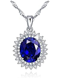 3.5 Ct 18K Gold Plated Sterling Silver Created Blue...