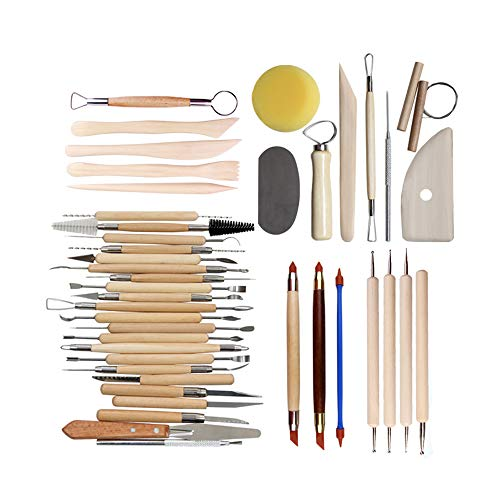 (Sculpting Tools Multifunctional Sculpture Useful Modeling Clay Tools Pottery Clay Clay Sculpting Tool Ceramics Scrapbooking Stainless Steel)
