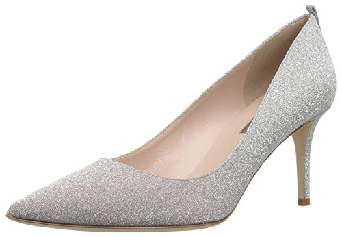 SJP by Sarah Jessica Parker Women's Fawn 70 Pointed Toe Dress Pump, Silver/Pink Omb, 37.5 B EU (7 US)