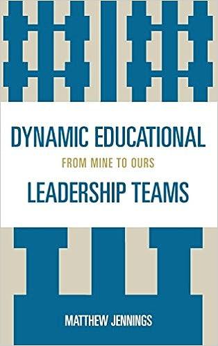 dynamic educational leadership teams jennings matthew