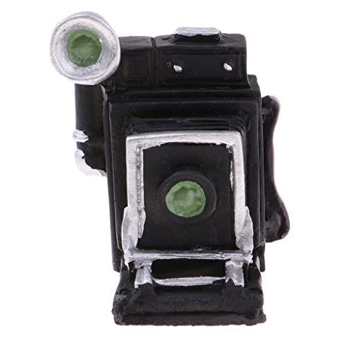 Prettyia Black Resin Miniature Old-Fashioned Camera Model for 1:12 Dollhouse Room Decoration