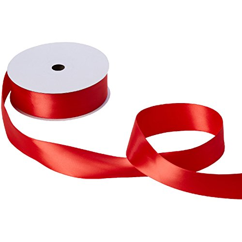 Jillson & Roberts Double-Faced Satin Ribbon, 1 1/2'' Wide x 50 Yards, Red by Jillson Roberts