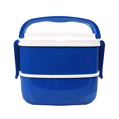 3 Piece Lunch Box Kit - Nesting Food Pods, Reusable Utensils - Blue.