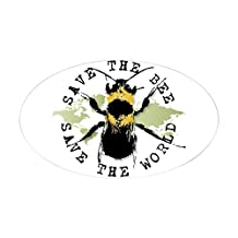CafePress - Save The Bee... Oval Sticker - Oval Bumper Sticker Car Decal