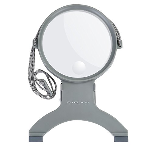 TOROTON Hands Free Lighting Reading Magnifier, Portable Neck Wear LED Magnifier, for Seniors Reading, Sewing, Cross Stitch, Embroidery