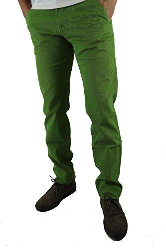 HEAVEN TWO size 30 pantaloni uomo verde cotone AS219