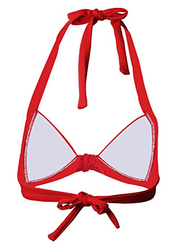Futurino - Top de bikini - para mujer Rojo