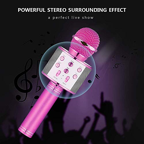 HahaGift Gifts for 3-14 Year Old Girls, Microphone Idea for Kids Toy Microphone for Kids Microphone Fun Toys for 3-14 Year Old Girls Boys Purple by HahaGift (Image #4)