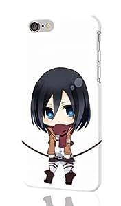 ackerman Blue chibi eyes hair kyojin mikasa scarf shingeki short Custom Diy Unique Image Durable 3D Case Iphone 6 Plus - 5.5