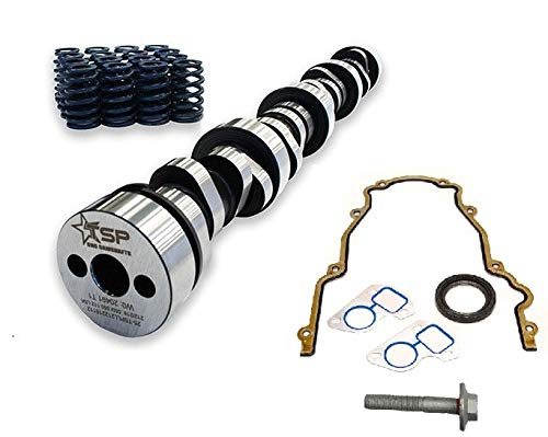 (Texas Speed TSP Stage 2 High Lift Vortec Truck Camshaft 4.8 5.3 6.0 Includes Spring Set, Pushrods and Gasket Kit (Camshaft, Spring Set and Gasket Kit))