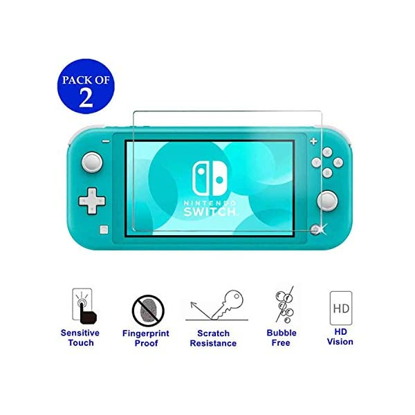 Accessories Kit for Nintendo Switch Lite - YOOWA Accessories Bundle with Carrying Case, Protective Cover case, 2-Pack Tempered Glass Screen Protector, Adjustable Play Stand, 6 Thumb Grips 4