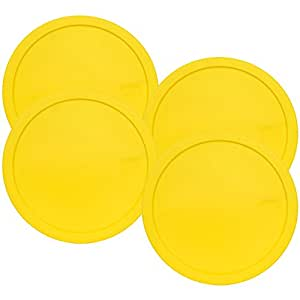 Pyrex 325-PC Yellow 10-inch Dia. Lid for 2.5-Quart (2.3L) Mixing Bowl (4-Pack)