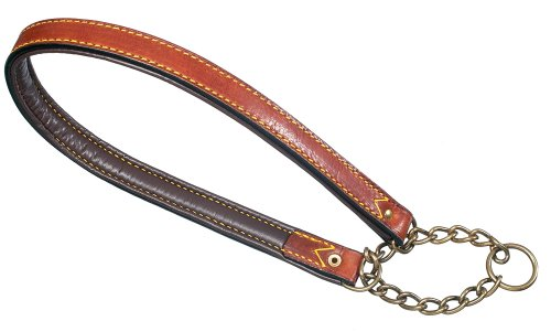 Petego La Cinopelca Padded Leather Semi-Choke Collar, Brown 1/2 Inches by 13 3/4 Inches