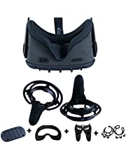 360° Full Body Oculus Quest Face Mask,Esimen VR Silicone Protective Frame for Oculus Quest Head Cover Controller Grip Skin (Black)