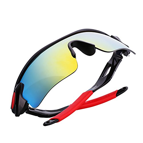 Polarized Sports Sunglasses, MiluoTech Sunglasses for Men Women Cycling Riding Running - Versace Vintage Mens Sunglasses