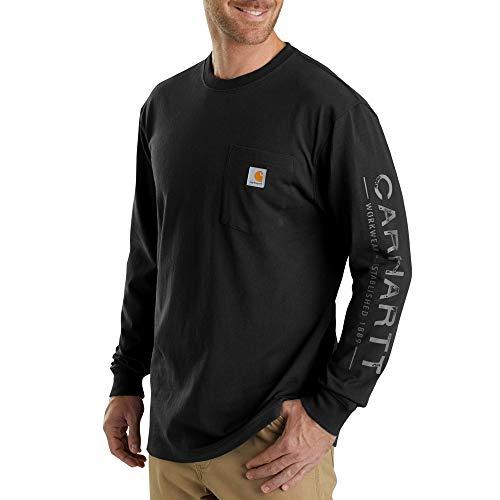 Core Sleeve Shirt Long (Carhartt Men's 103303 Workwear Core Graphic Long Sleeve T-Shirt - 2X-Large Regular - Black)