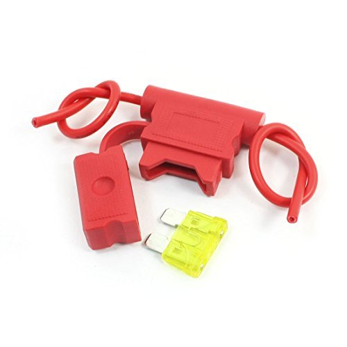 - Lame de véhicules de voitures en plastique rouge Porte-fusible Container 32V 20A