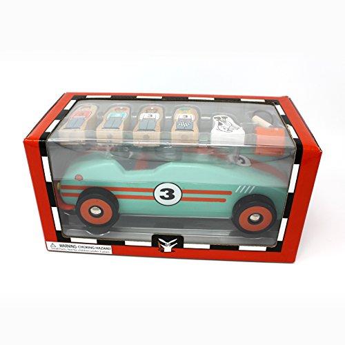 Jack Rabbit Creations Magnetic Retro Race Car