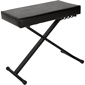 Amazon Com Musician S Gear Deluxe Keyboard Bench Musical