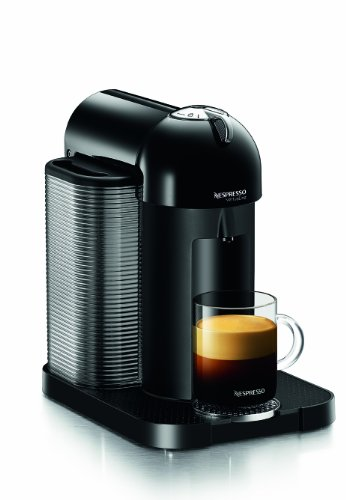 Nespresso GCA1-US-BK-NE VertuoLine Coffee and Espresso Maker, Black (Discontinued ()