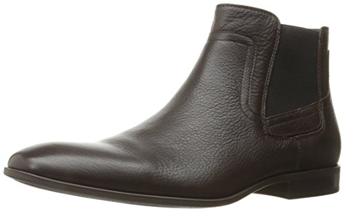 Calvin Klein Men's Clarke Tumbled Boot, Dark Brown, 13 M US