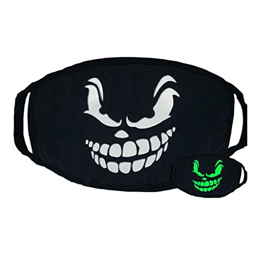 potato001 Unisex Cosplay Party Cycling Luminous Face Mask Anti Dust Cotton Mouth Mask (Sinister -
