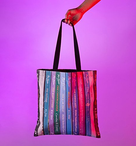 Premium Point Horror Bag Inspired Book Spines Tote q067gI