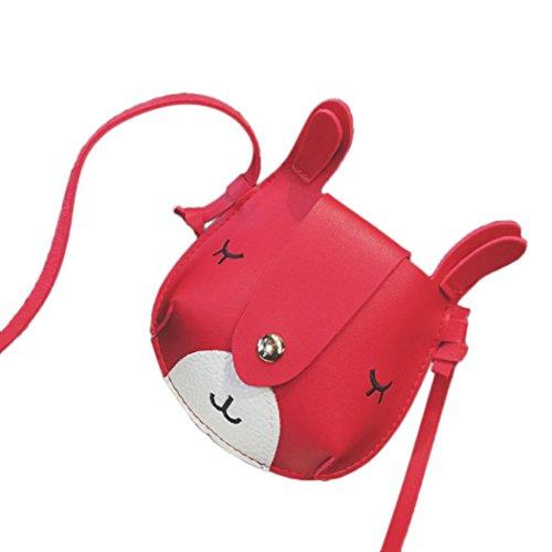 bandoulière Fashion Sacs enfants sacs Mini de Softback Girl bandoulière bande sac à Filles main Rouge mignon A BZLine® dessinée à 8wxq57Cn