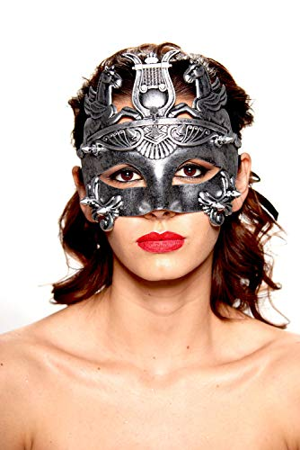 KII Roman Gladiator Spiked Masquerade Mask (Black/Silver; Unisex One Size) for $<!--$14.45-->