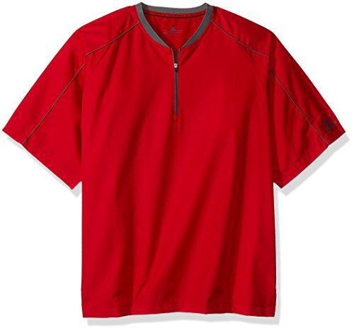 Mizuno Comp Short sleeve Batting Jacket, Red, EXTRA EXTRA LARGE (XXL) (Jackets Mizuno Batting)