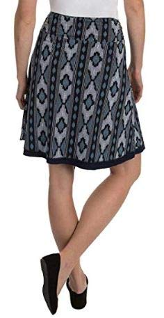 Tranquility Womens Reversible Skirt, Navy Ikat (Small)