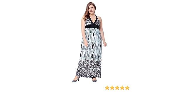 4a1523eea3 Women's Empire Waist Plus Size Sun Dress Long Bohemian Maxi Gown