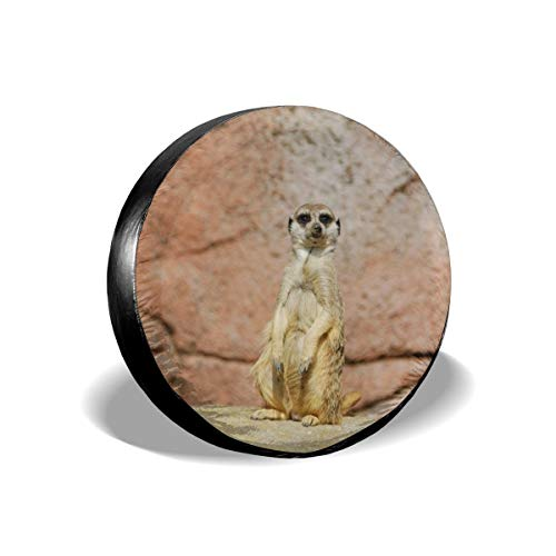 GKKQPZN-5A Standing Meerkat Spare Tire Cover, Universal Fit for Jeep, RV, SUV, Truck and Many -