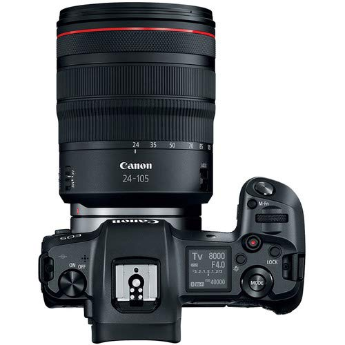 Canon EOS R Mirrorless Digital Camera with 24-105mm Lens Bundle with Carrying Case and Cleaning Kit