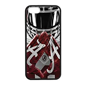 Caitin NCAA Alabama Crimson Tide Team Logo Hard Shell Cases Cover for iPhone 5c
