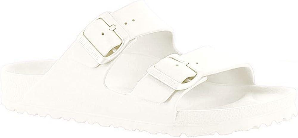 Birkenstock Classic ARIZONA EVA - zuecos de goma unisex, color blanco, talla 41 EU (estrecho)
