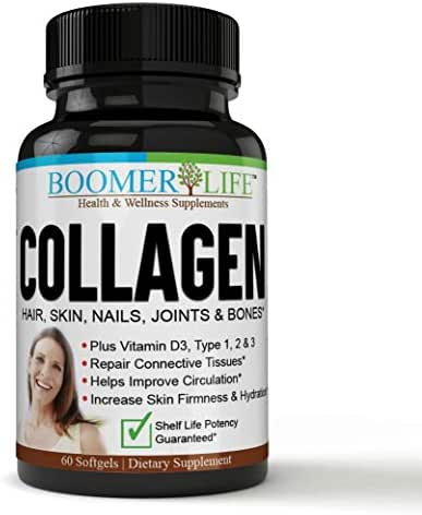 Collagen Pills Hair and Skin, Type 1, 2 & 3, Collagen Pills for Men & Women - Fast Acting, Real Results!