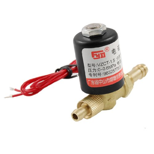 uxcell 0-0.6Mpa Brass 2 Way Rotatable Welding Machine Solenoid Valve AC 220V