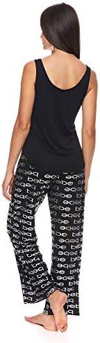 bebe Womens Tank Top and Pajama Pants Lounge Sleepwear Set